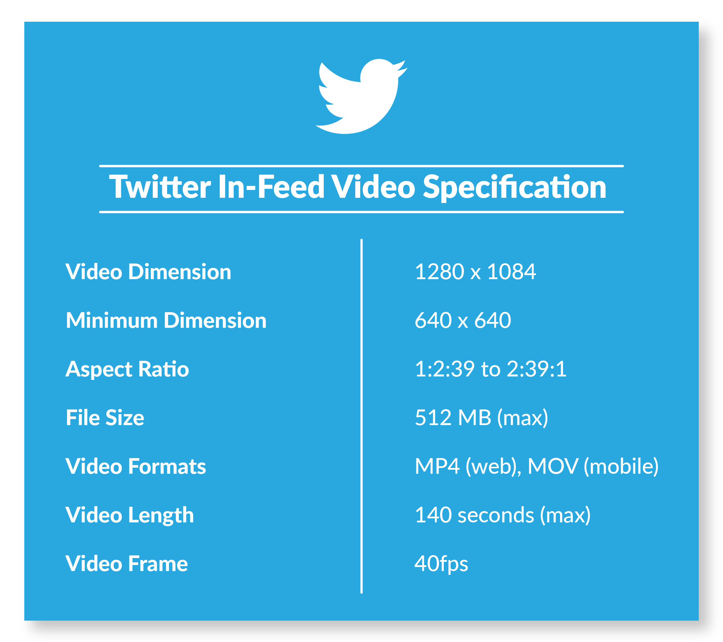 Twitter In feed video specifications