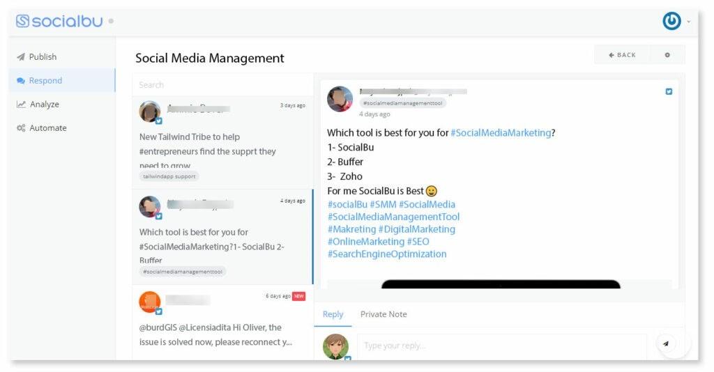Keyword and Hashtag Tracking Feed