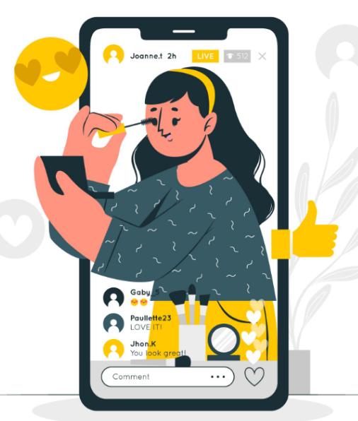 Instagram influencer illustration