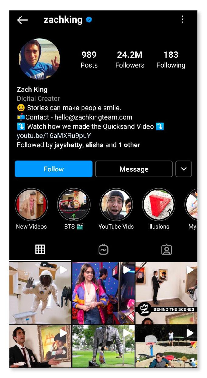 Zachking Instagram ID