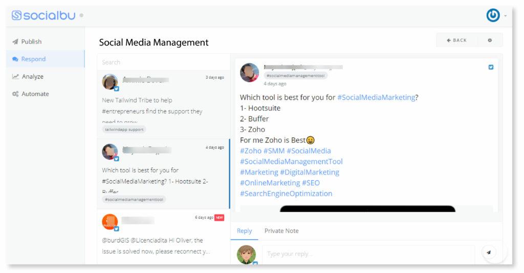 Hashtag Tracking feature of SocialBu