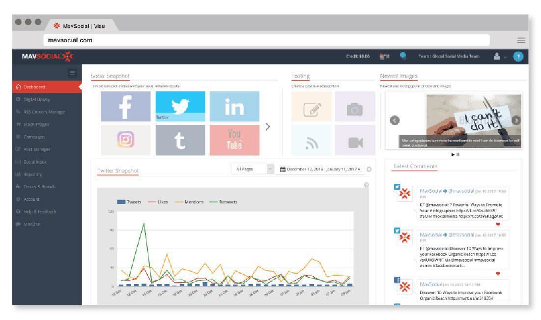 mav social dashboard