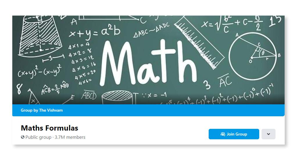 Maths Formula_Largest Facebook Groups