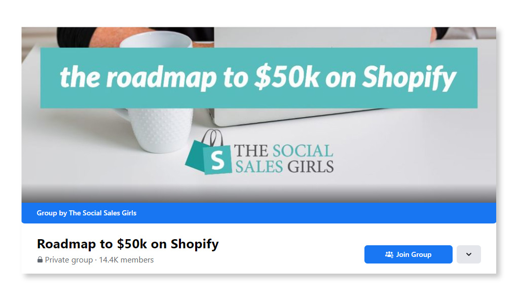 Roadmap to $50k on Shopify_Largest Facebook Groups