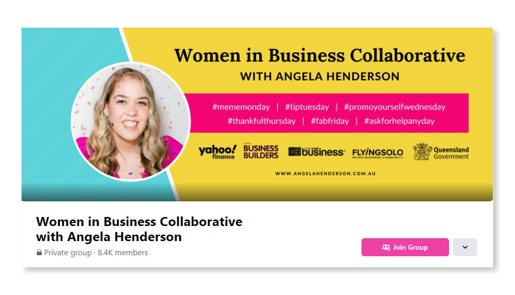 Women in Business Collaborative with Angela Henderson_Largest Facebook Groups
