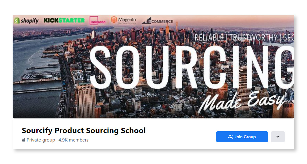Sourcify Product Sourcing School_Largest Facebook Groups