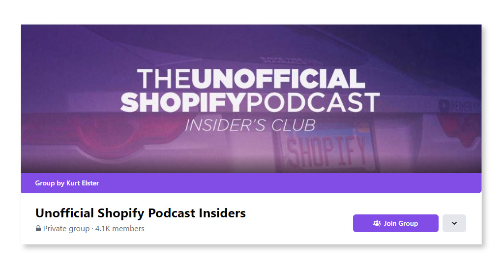Unofficial Shopify Podcast Insiders_Largest Facebook Groups