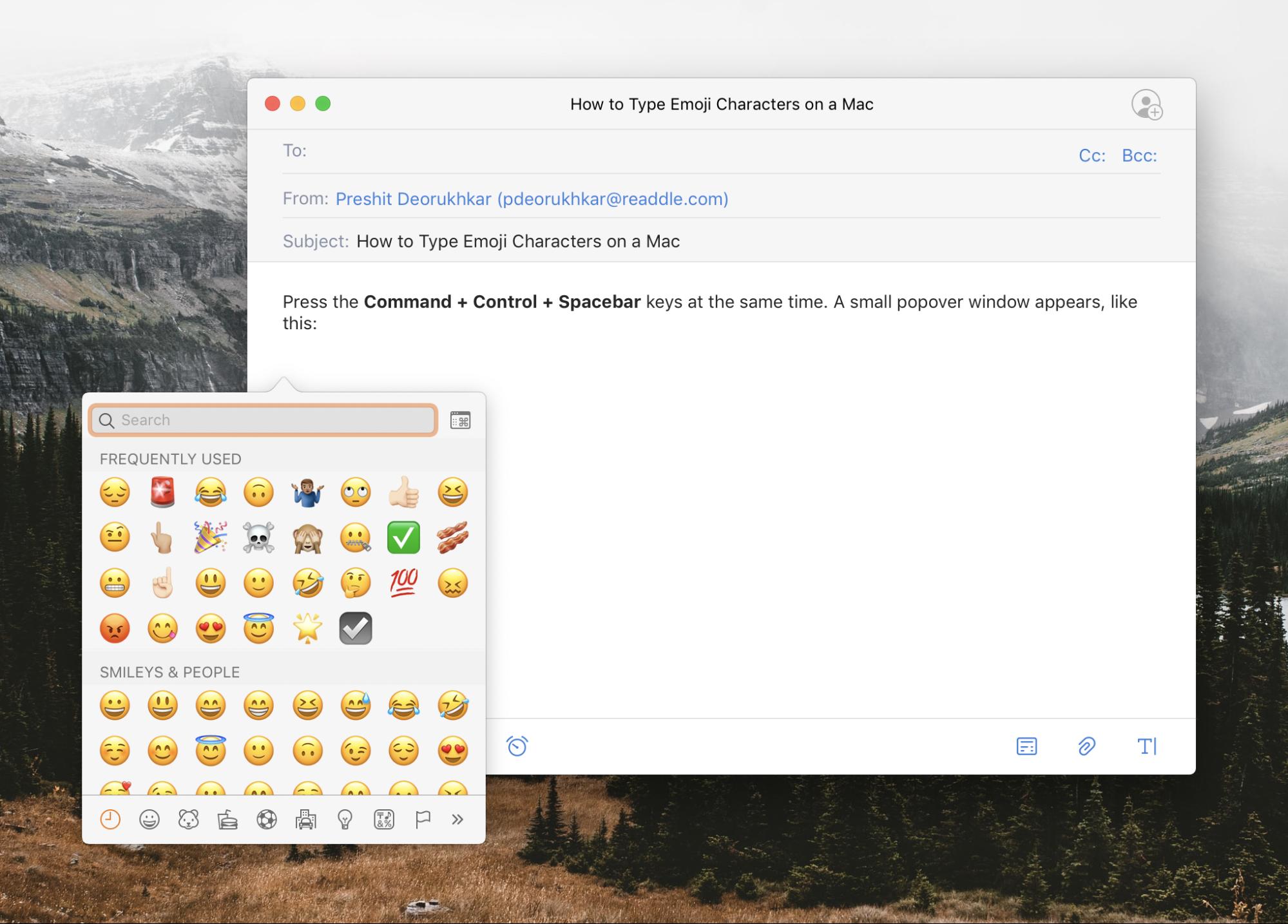 Emoji Keyboard Shortcut for Mac