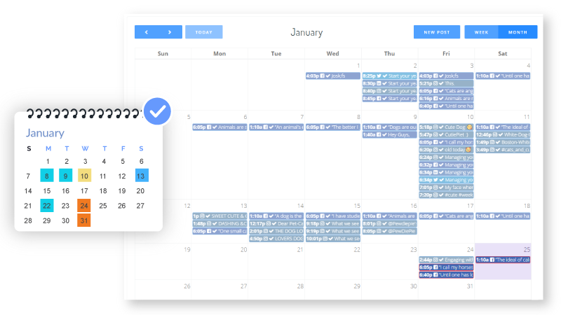 social media planning calendar for Google My Business